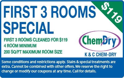 First 3 rooms for $149 carpet cleaning special