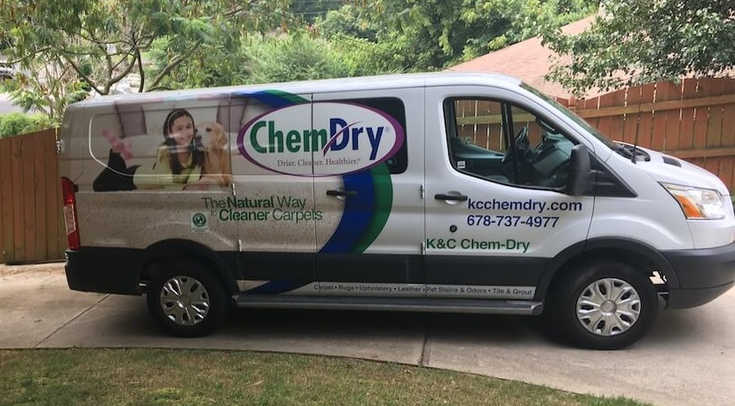 White K&C Chem-Dry van in Atlanta