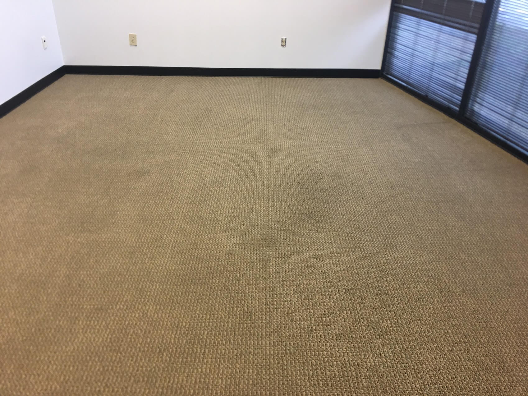 Brown office carpets cleaned by K&C Chem-Dry