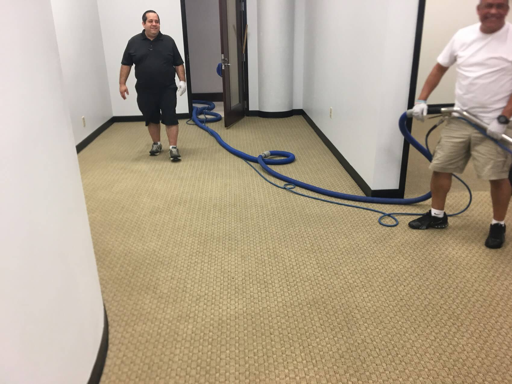 K&C Chem-Dry techs performing commercial carpet cleaning in forsyth county ga