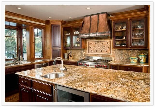 kitchen after a granite countertop renewal service