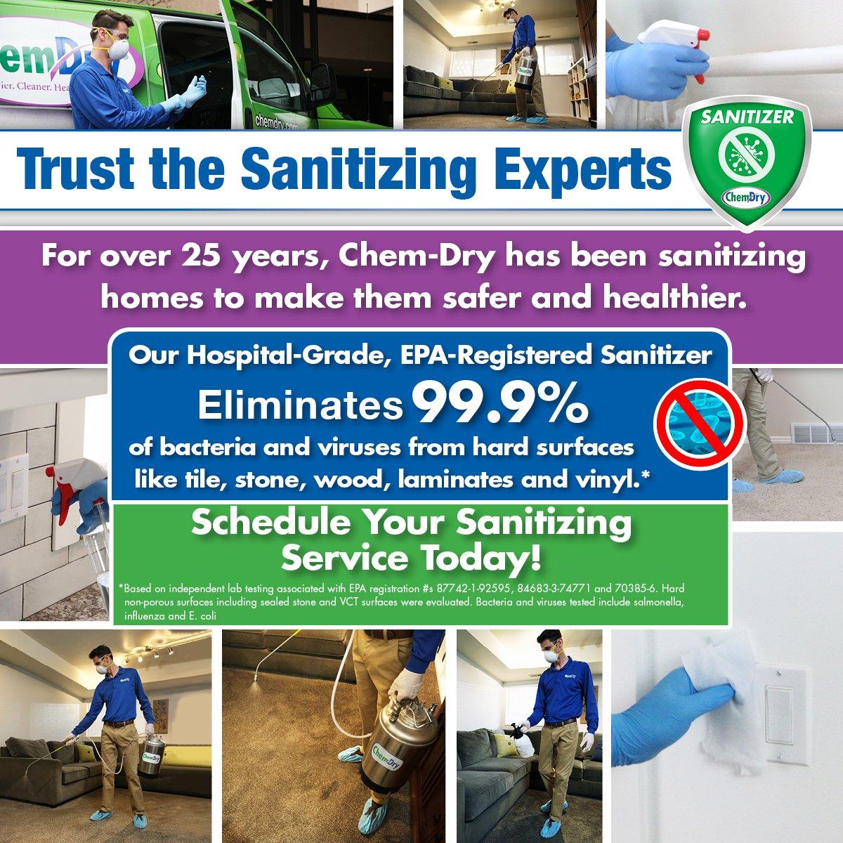 chem-dry hospital-grade sanitizer information graphic