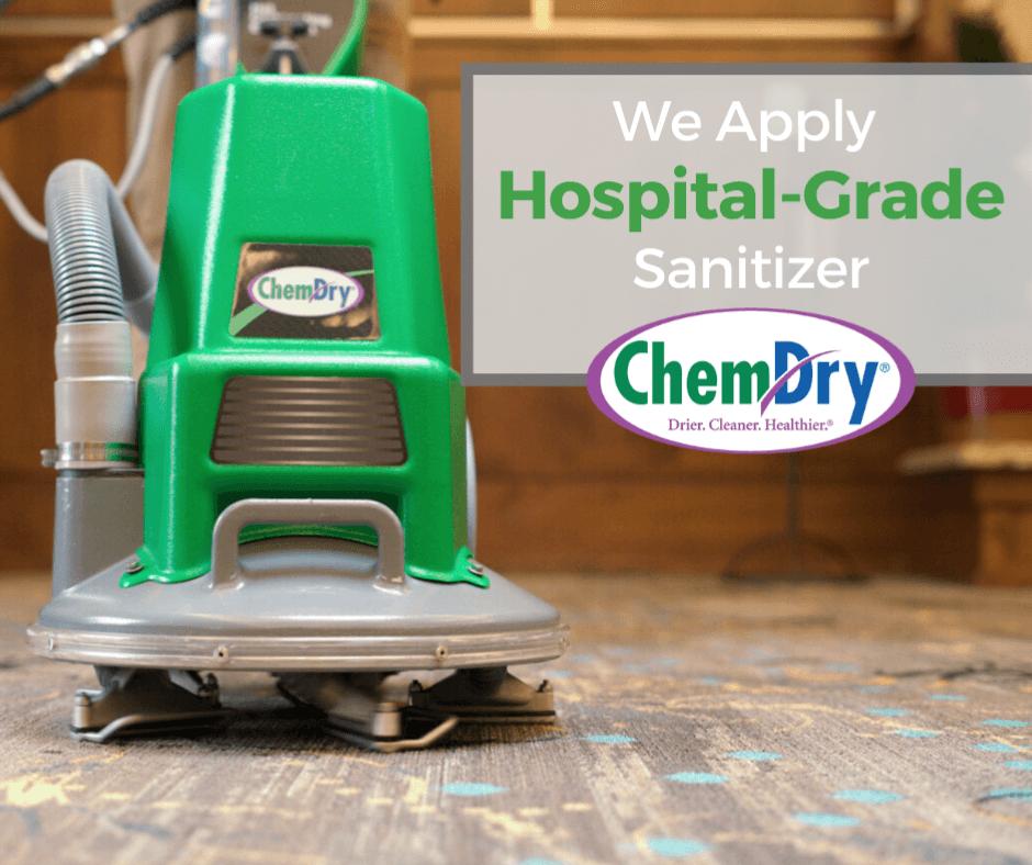 chem-dry hospital grade sanitizer graphic