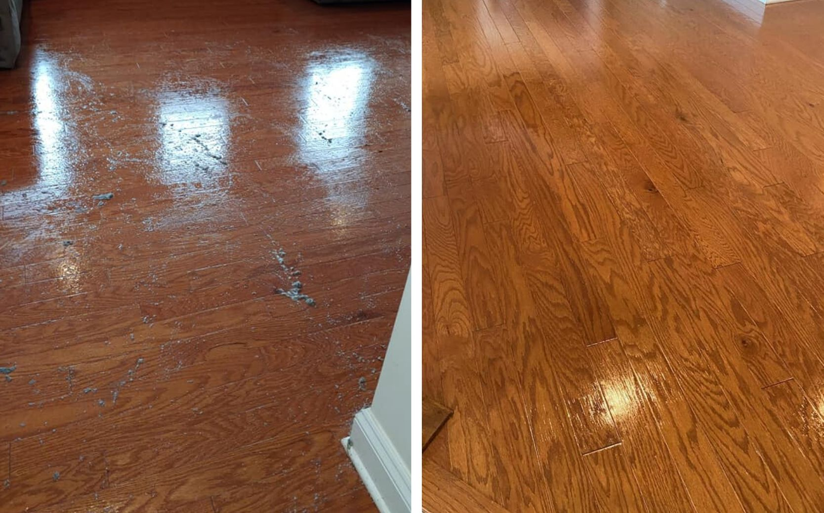 before and after wood floor cleaning in sandy springs ga
