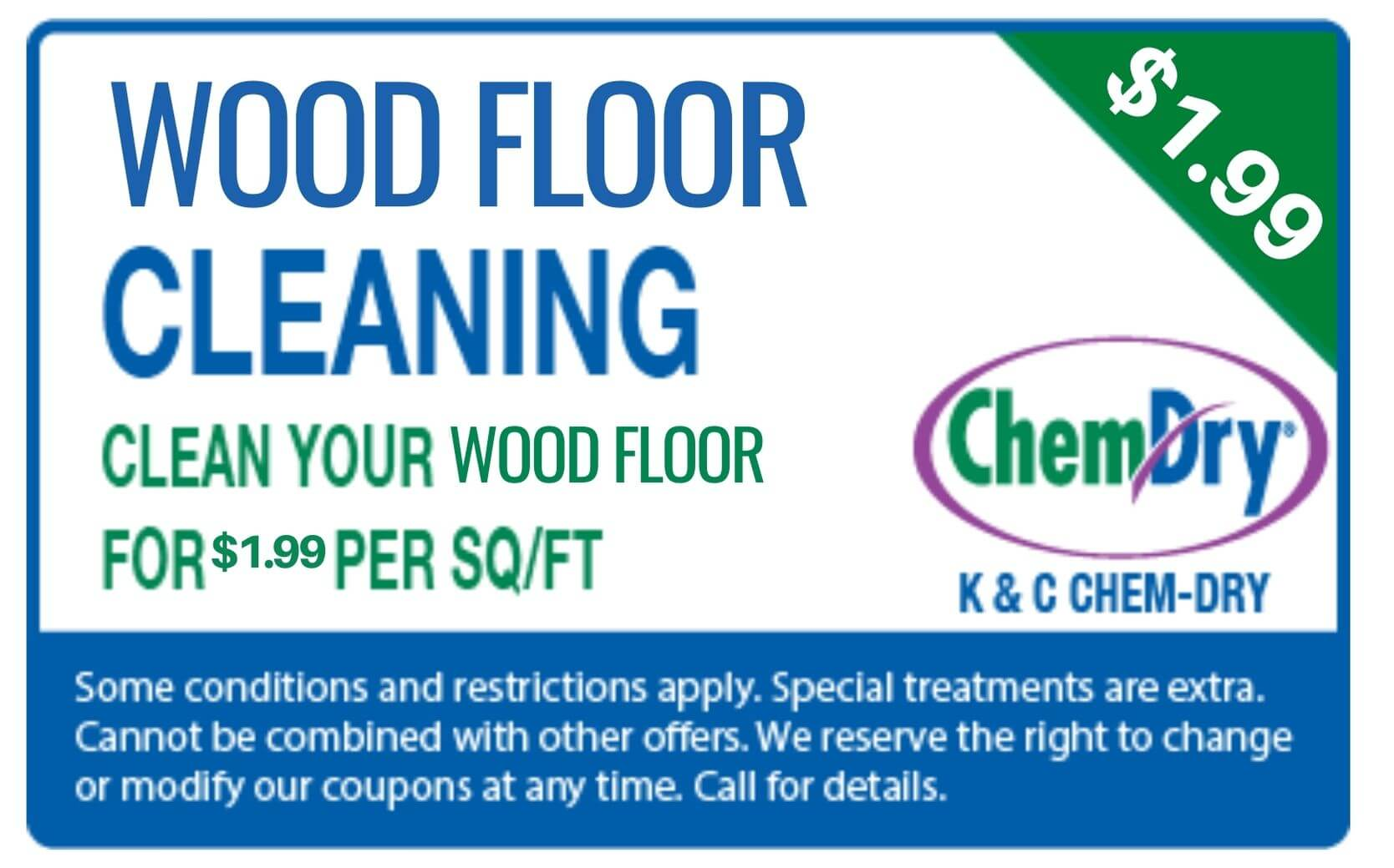 wood floor cleaning for 1.99 per sq/ft coupon